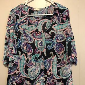 Skies are Blue Paisley Blouse